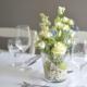 Tischgestecke in Gläsern Konfirmation Junge Hochzeit Taufe