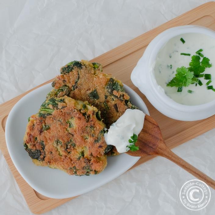 Rezept für vegetarische Bärlauch-Spinat-Bratlinge