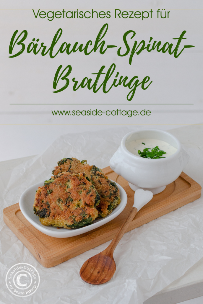 Rezeot für vegetarische Bärlauch-Spinat-Bratlinge