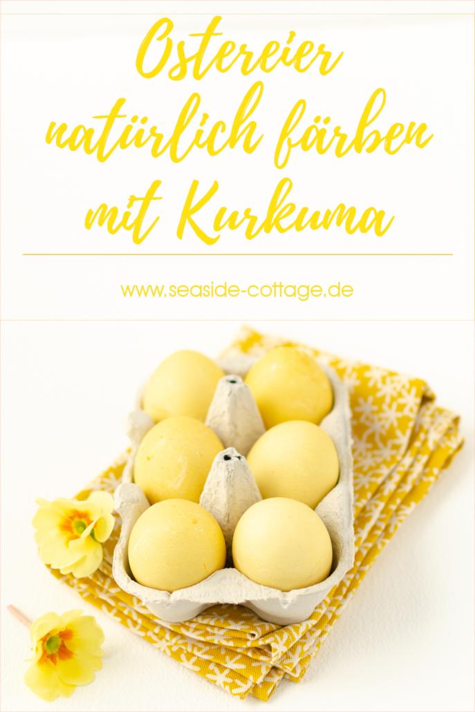 Eier natürlich färben mit Kurkuma