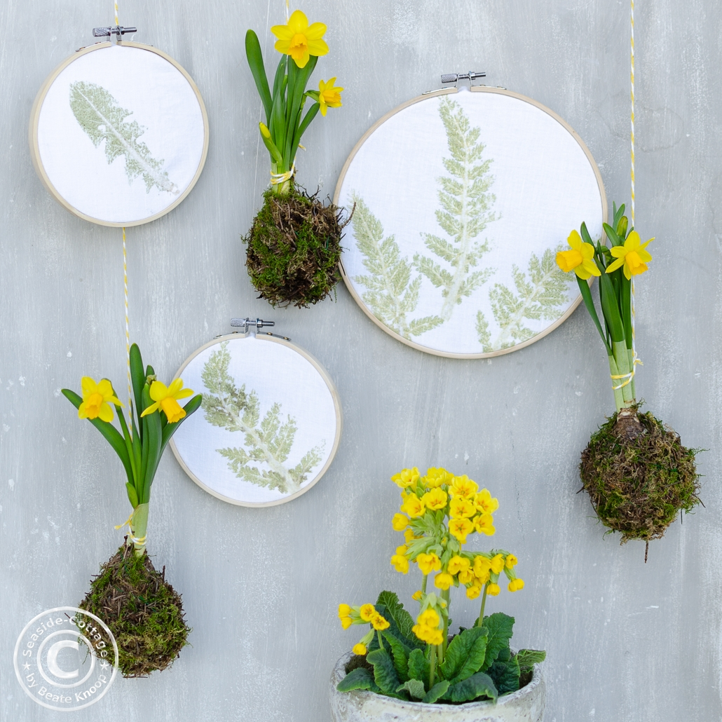 DIY Pflanzenbilder im Stickrahmen