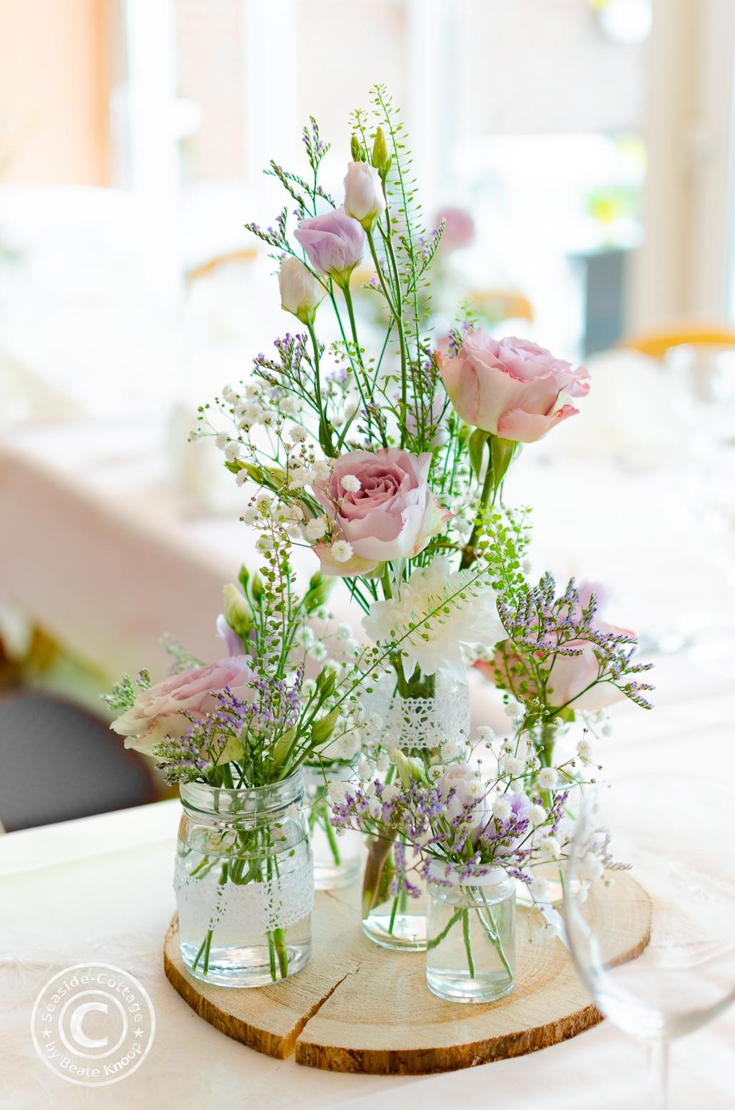 Natürliche Tischdeko für Konfirmation Kommunion Taufe Hochzeit