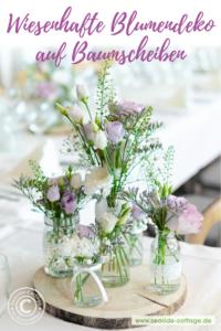 Natürliche Tischdeko für Konfirmation Kommunion Taufe Hochzeit Pinterest Pin