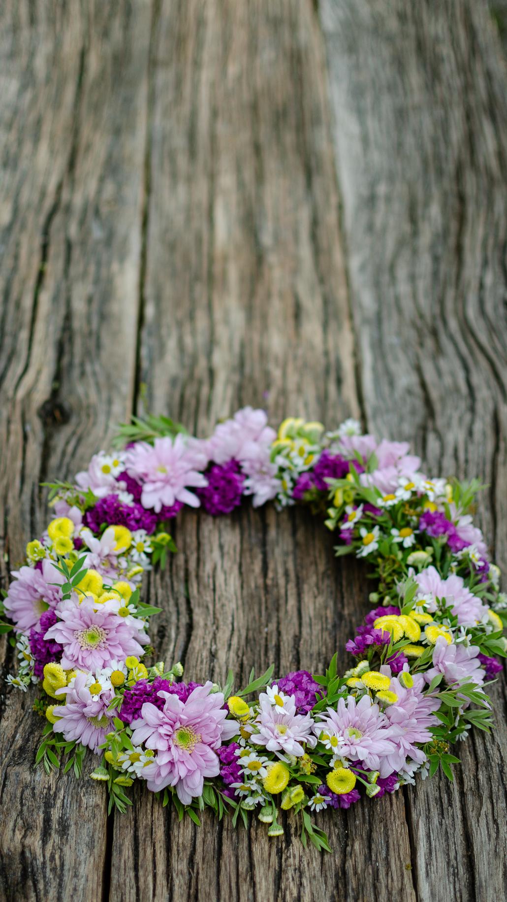 Blumenkranz binden in Eutin Workshop