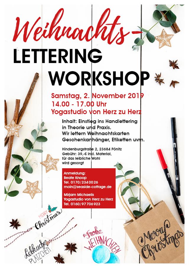 Workshop Handlettering zu Weihnachten Ostholstein