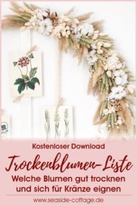 Pinterest Pin Trockenblumenliste