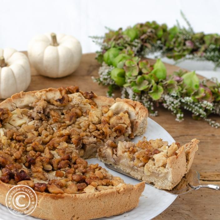 Herbstlicher Apfelkuchen als vollwertige Apfeltarte