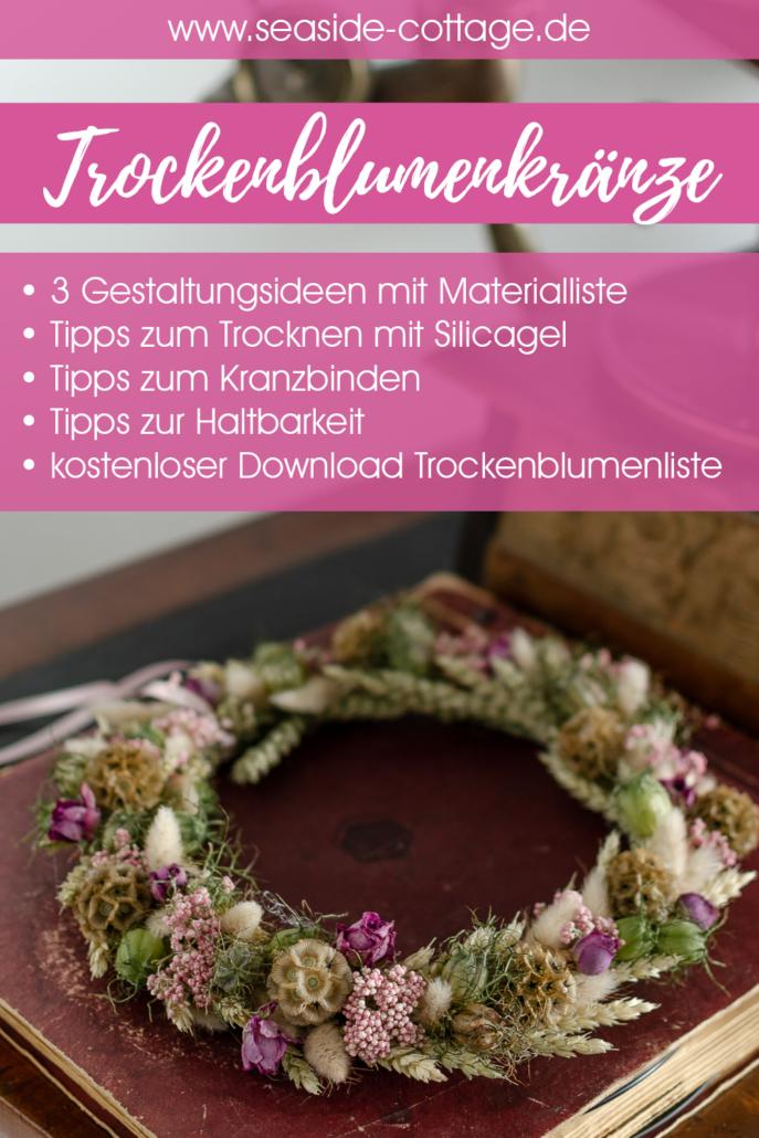 Pinterest Pin Trockenblumenkranz Tipps und Ideen