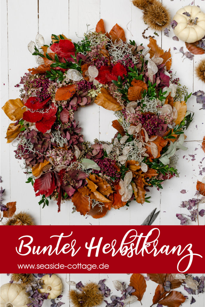 Pinterest Pin Bunter Herbstlranz
