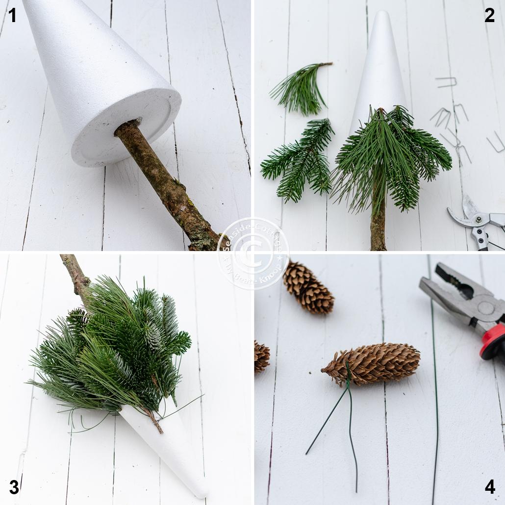 Schritt für Schritt Anelitung Weihnachtsbaum selbermachen