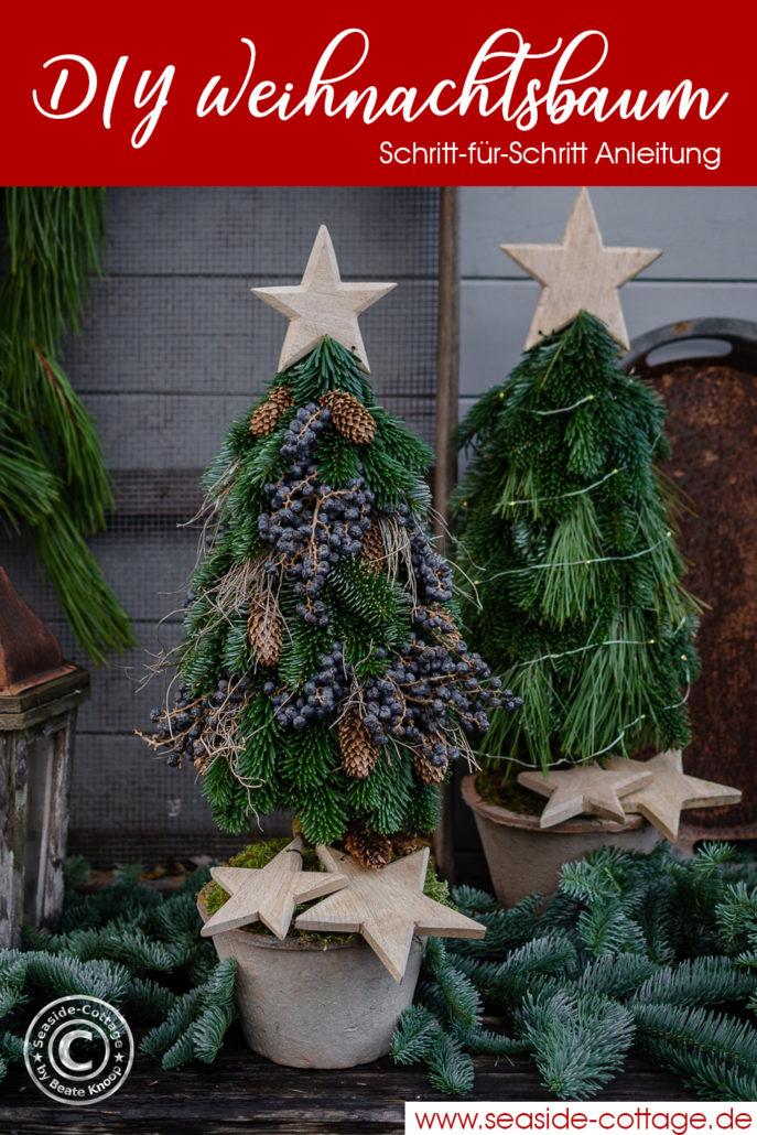 Pinterest Pin ANleitung Weihnachtsbaum selbermachen