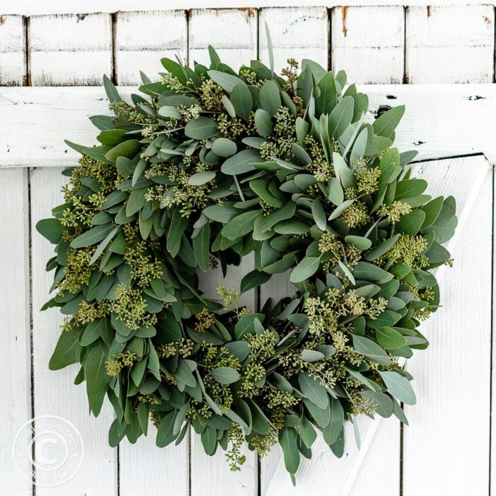 3 Dekoideen für Deinen weihnachtlichen Eukalyptuskranz