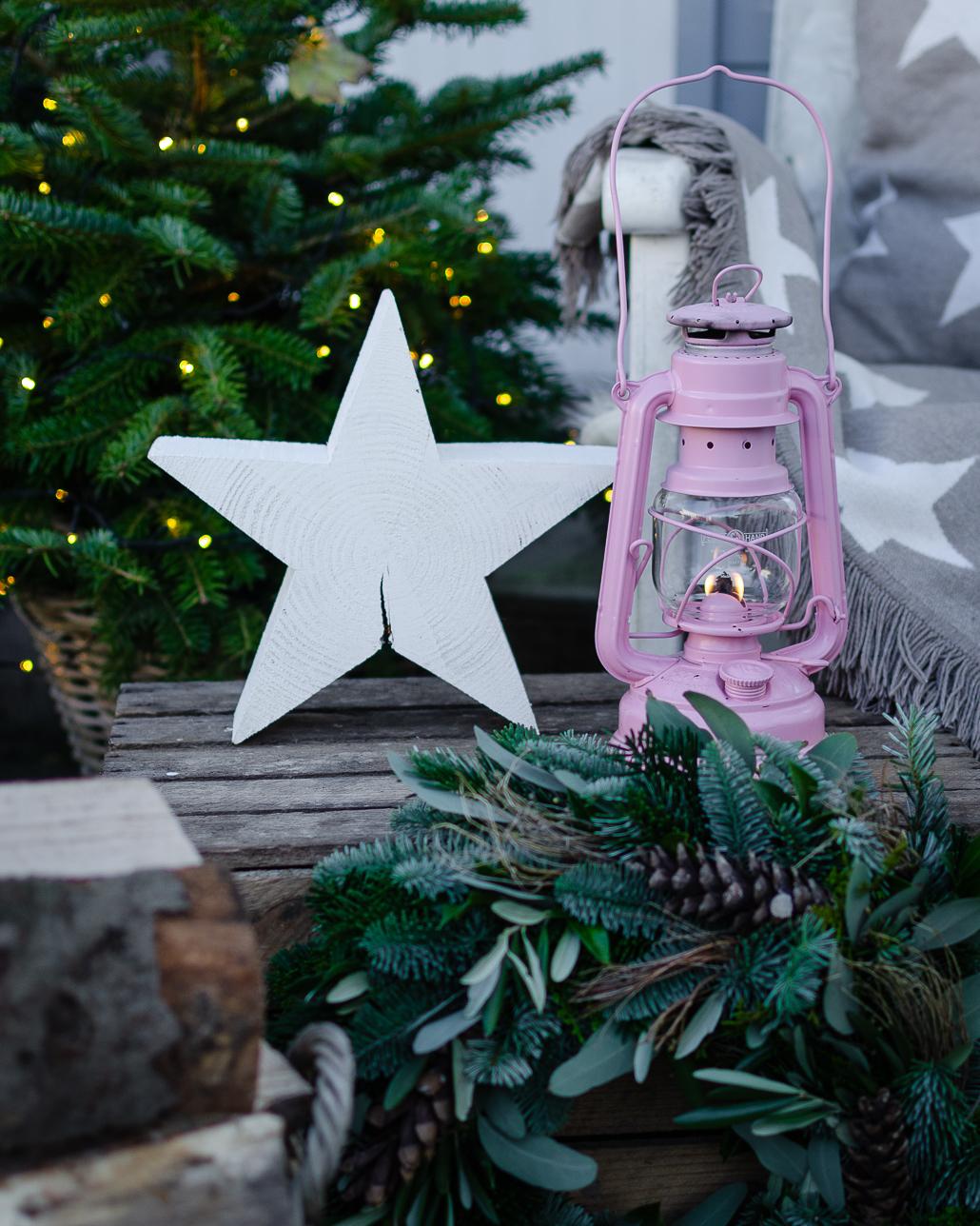 Weihnachtsdeko mit Feruhand Sturmlaterne Baby Special 276
