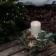 Winterkranz mit Kerze