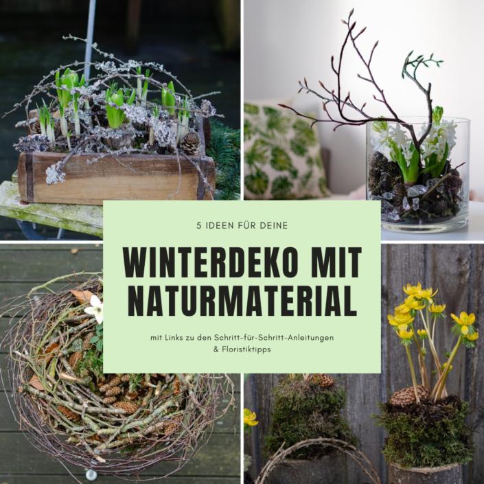 Winterdeko mit Naturmaterial