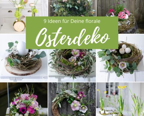 Osterdeko mit Blumen 9 Ideen
