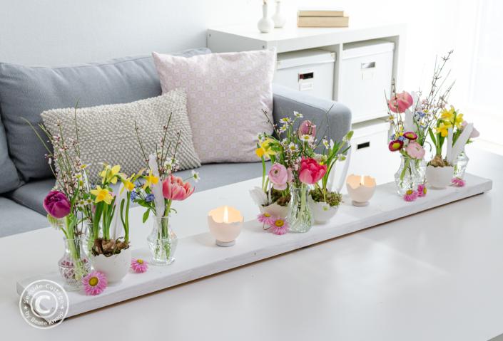 Osterdeko mit Blumen einfach selbermachen