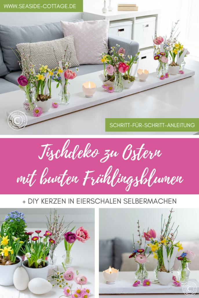 Pinterest Pin zur Anleitung Tischdeko zu Ostern
