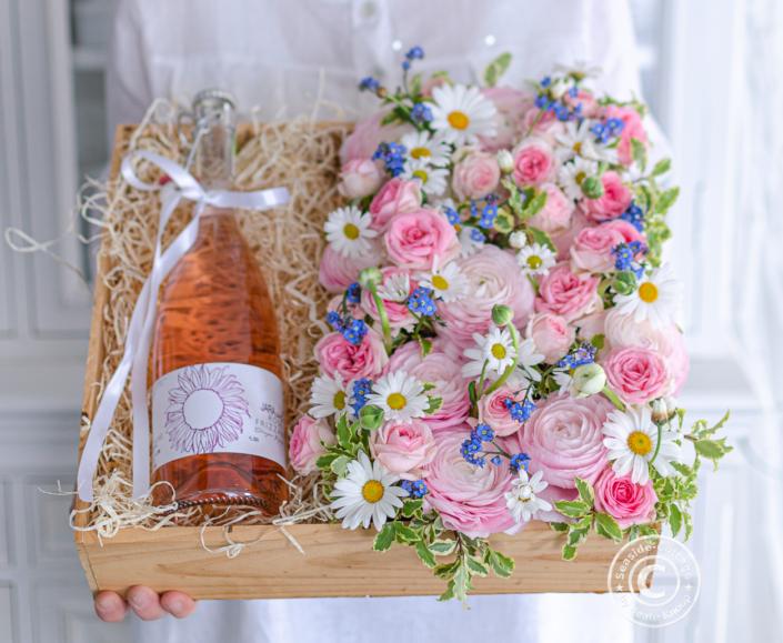 Blumige Geschenkverpackung Muttertag Hochzeit Geburtstag