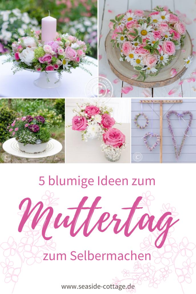 Pinterest Pin 5 blumige Ideen zum Muttertag