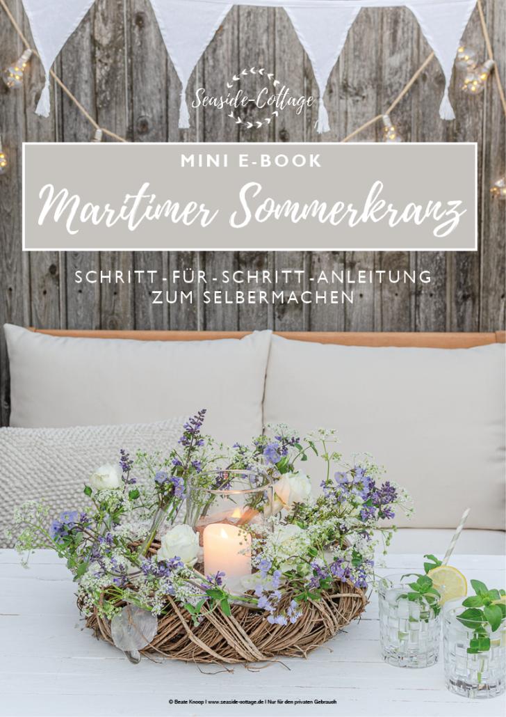Pinterest Pin Anleitung maritimer Sommerkranz