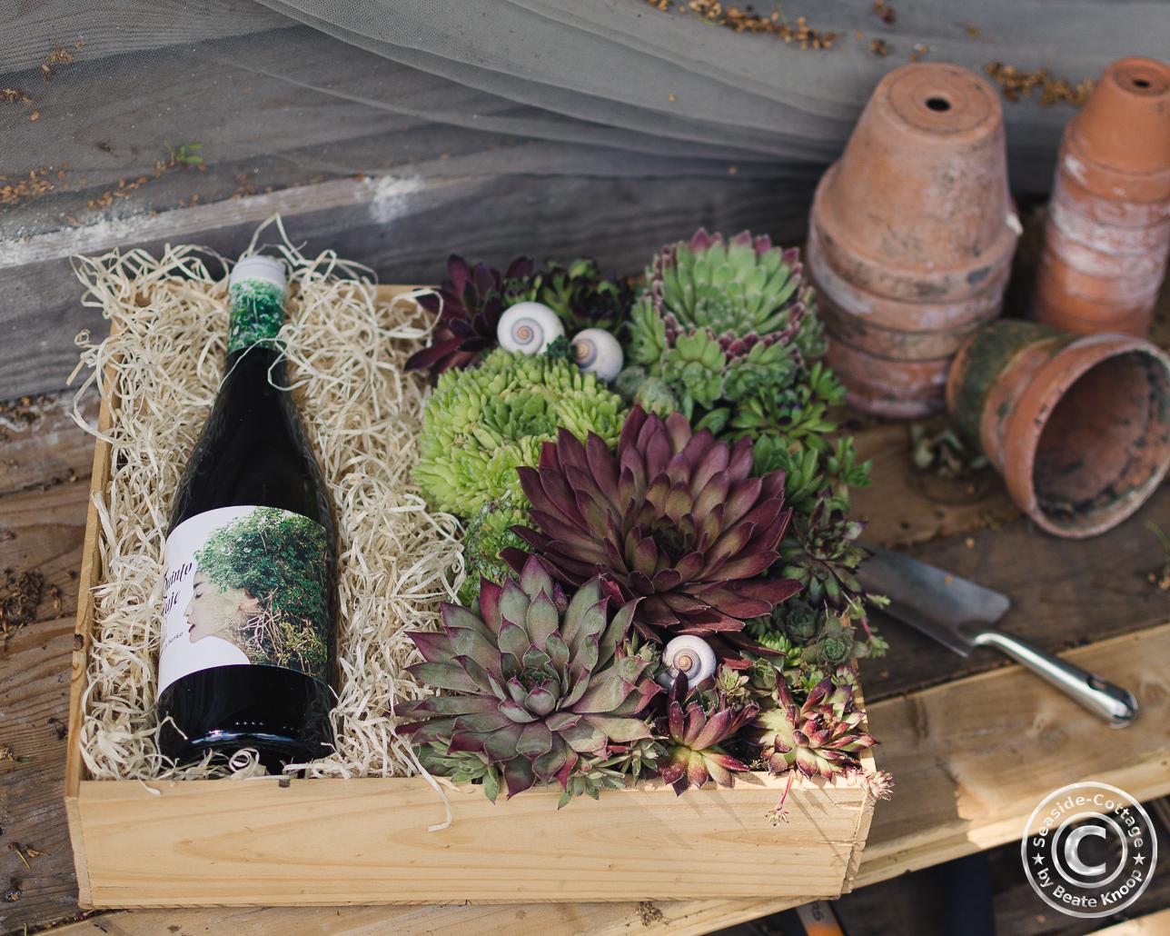 Verpackungsidee für Wein