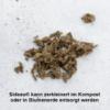 Kompostierbarer Blumensteckziegel, plastikfrei