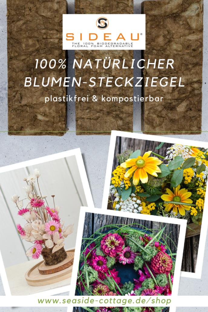 Pinterest Pin 100% natürlicher Blumensteckziegel